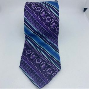 Ted baker London floral purple and blue neck tie